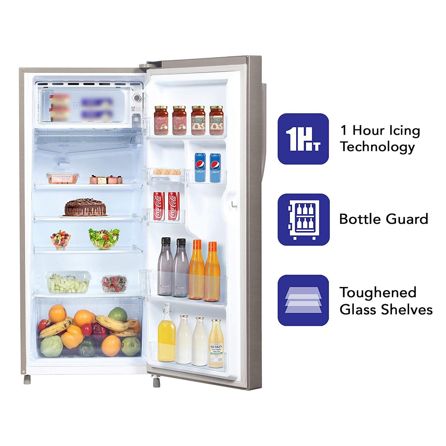 Haier 195 L 4 Star Direct-Cool Single-Door Refrigerator (HED- 20CFDS, Dazzle Steel)